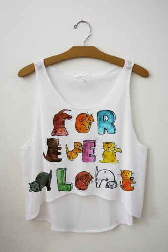 Forever Alone Kittens Crop Top | fresh-tops.com: Fresh Tops, 90S Kids, Crop Tops, Sleep With Sirens, Shirts, Dreams Catcher, Tanks Tops, Crop Tanks, One Direction