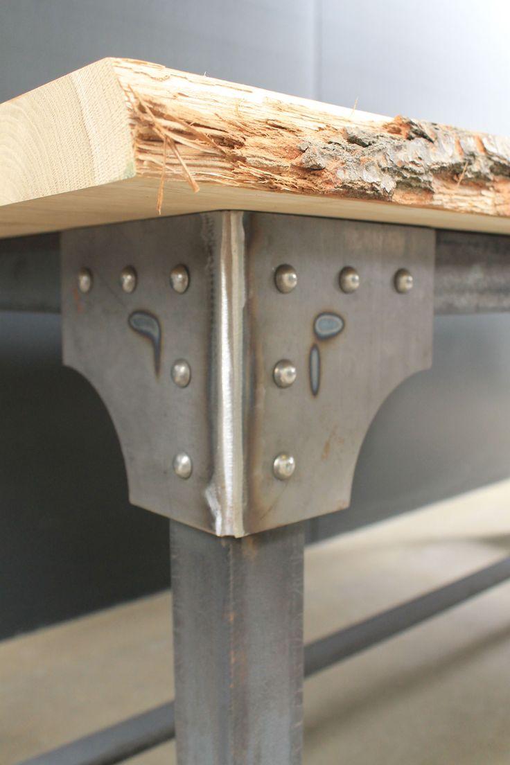25 beste idee n over houten tafelbladen op pinterest recycled hout tafels verf houten tafels - Grote ronde houten tafel ...