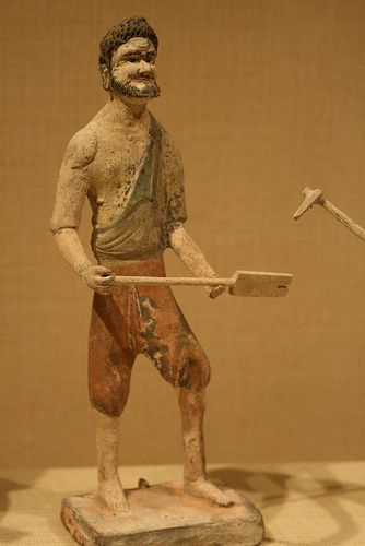 Man with a Shovel China, Tang dynasty, 618-907 7th cent.