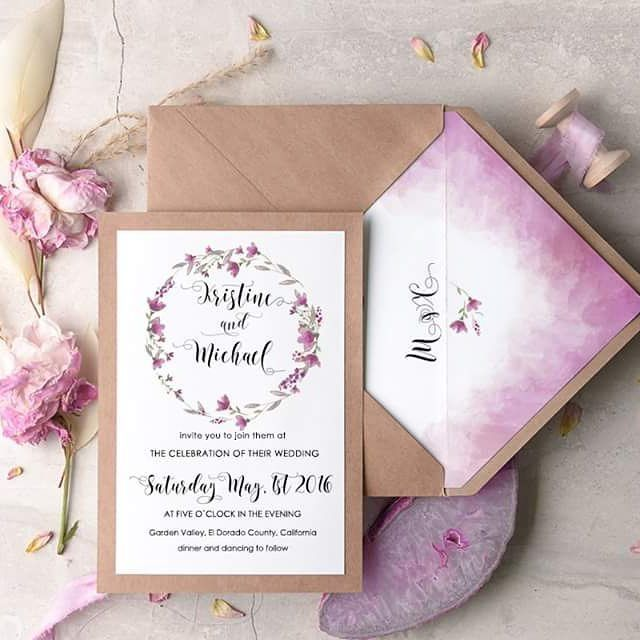 Ombre wedding invitations #ombre #invitations from @4LOVEPolkaDots For more pretty wedding inspiration follow them on IG here https://instagram.com/4lovepolkadots
