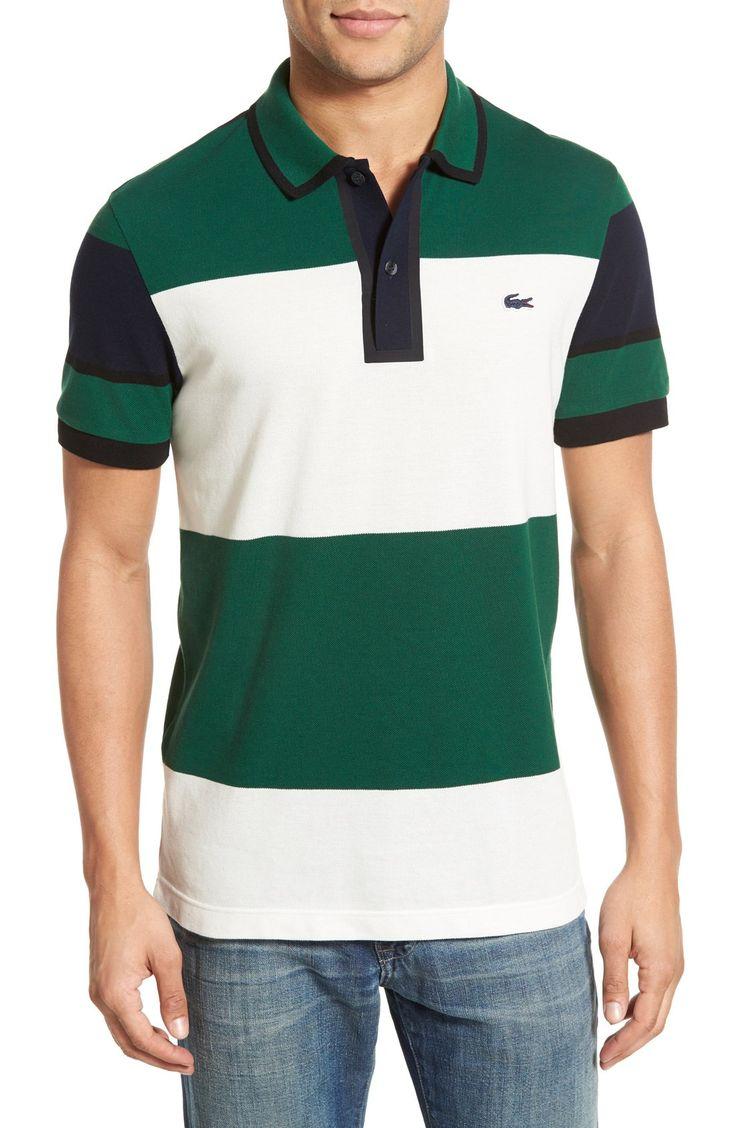 Lacoste Colorblock Stripe Pique Polo