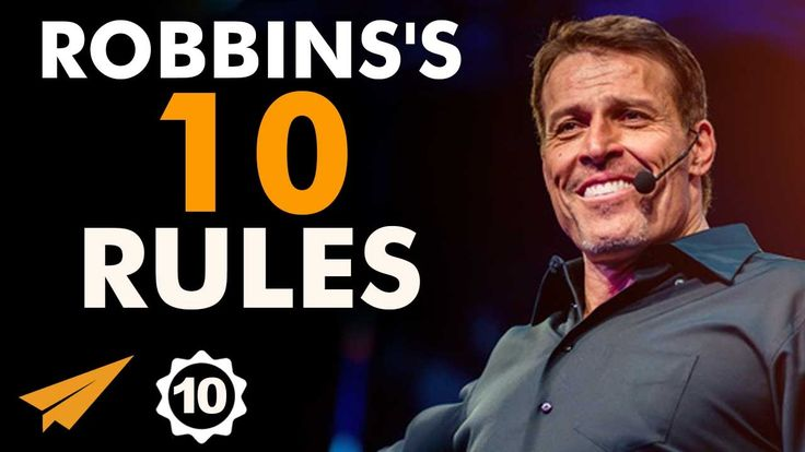 Tony Robbins's Top 10 Rules For Success Evan Carmichael He's an American motivational speaker, personal finance instructor, and self-help author. He became well known from his infomercials and self-help books. In ...