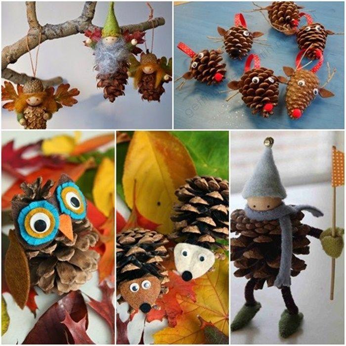 5 manualidades para navidad con pi as y fieltro navidad - Manualidades navidad con pinas ...
