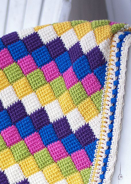 Ravelry: Project Gallery for Playing Blocks Baby Blanket pattern by Valley Yarns