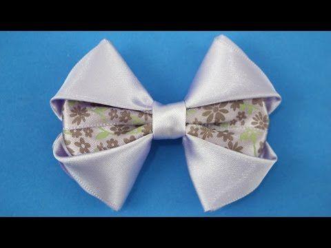 Lazos faciles de liston, Flores elegantes en cinta gros,#531 - YouTube