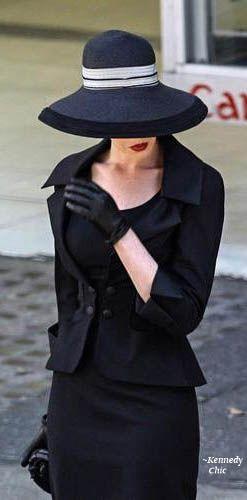 Ann Hathaway in Proper Funeral Attire