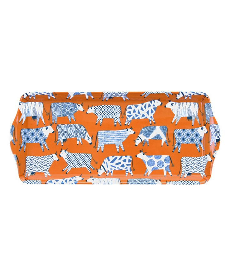 Look at this Medium Curious Cows Kitchen Tray on #zulily today!
