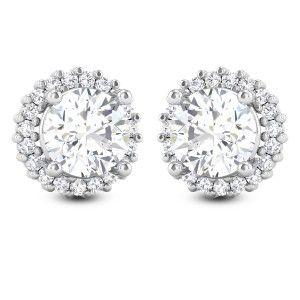 Aishna Solitaire Stud Earrings SJER7004