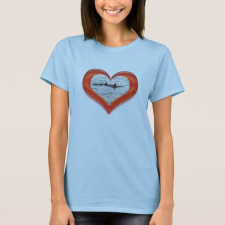 Dolphin Heart T-Shirt - click/tap to personalize and buy