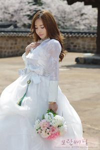 Korean Wedding Fusion Hanbok -- So pretty!