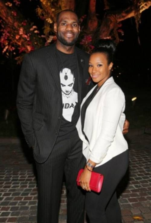 NBA Star Lebron James and wife Savannah Brinson