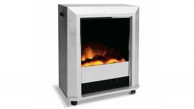 Dimplex Electric Fire Heater - Lee Silver