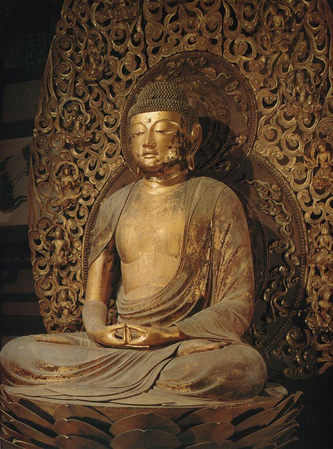 阿弥陀如来坐像-amidanyoraizazou- (Amitābha) One of Buddha. The work of an engraver 定朝.平等院鳳凰堂(byoudouinhououdou)