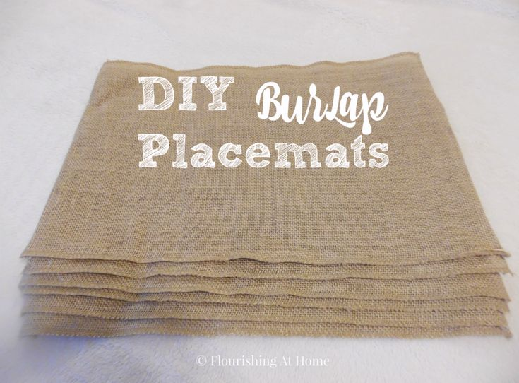 DIY Burlap Placemats for Fall