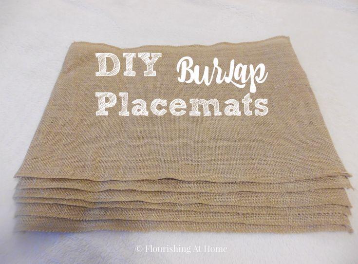 DIY Burlap Placemats for Fall