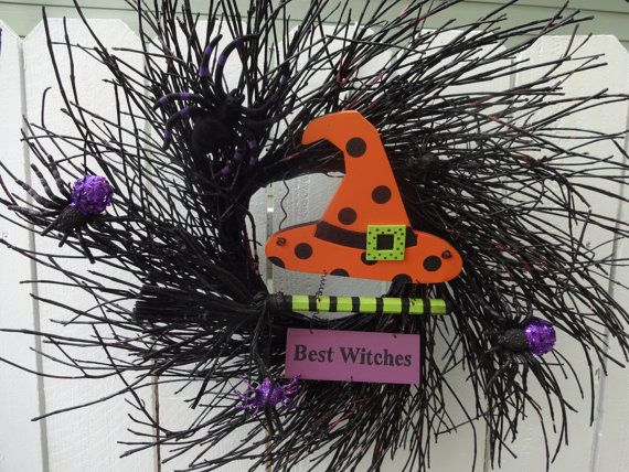 Halloween Clearance Sale    Best Witches Wreath    Halloween