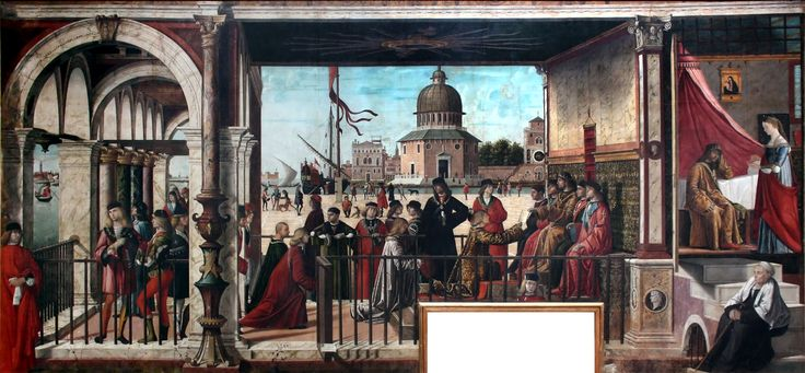 Arrival of the English Ambassadors by Vittore Carpaccio, between 1495-1500