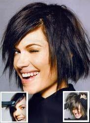 layered bob hairstyles   messy layered bob haircut medium hairstyles gallery