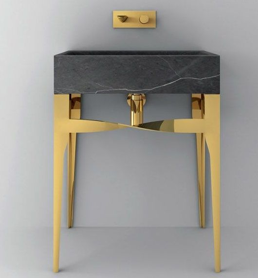 the accademia collection of washbasins from teuco mix marble metal and modern design