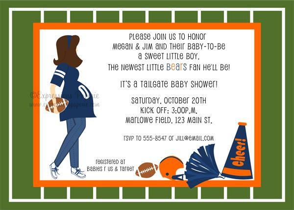 Football Baby Shower Invitations