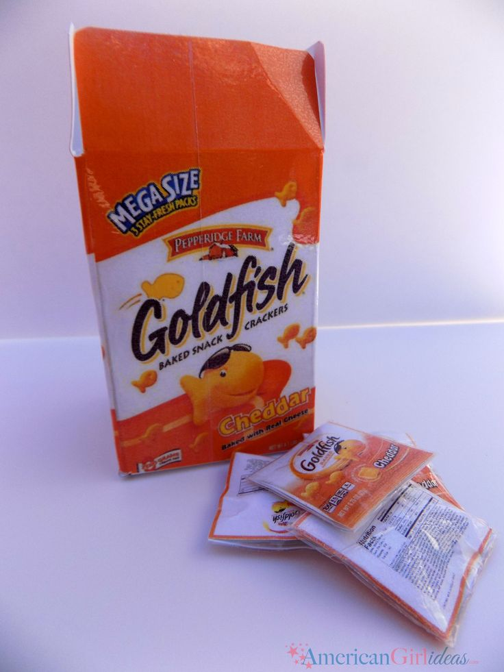 Doll size goldfish crackers