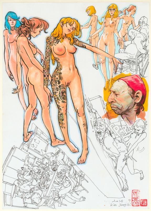 "Kim Jung Gi - Illustration originale, ""Sex"""