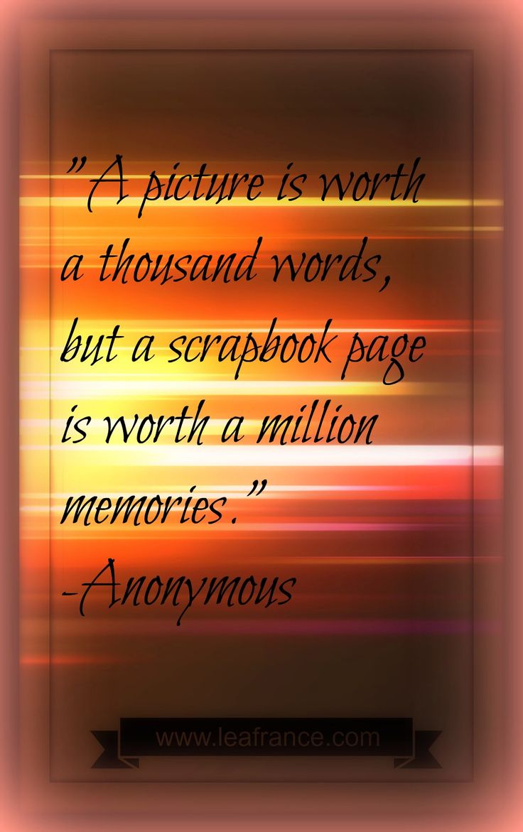 How to scrapbook words - Here Is A Nice Quote About Scrapbook