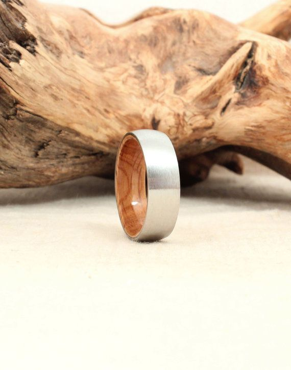 I'd wear this for forever (Cobalt Wooden Ring Lined with Jack Daniels by WedgewoodRings, $325.00)