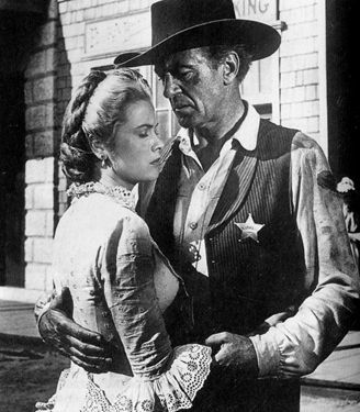 Grace Kelly western movies | Grace Kelly and Gary Cooper in High Noon .