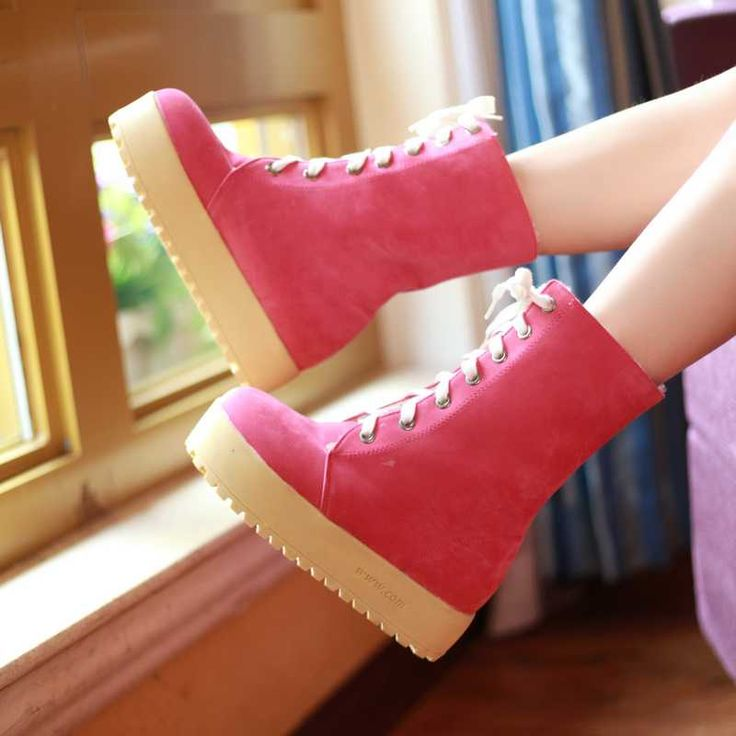 Sweet Corss Strappy Thick Foam Sole Short Snow Boots 4004