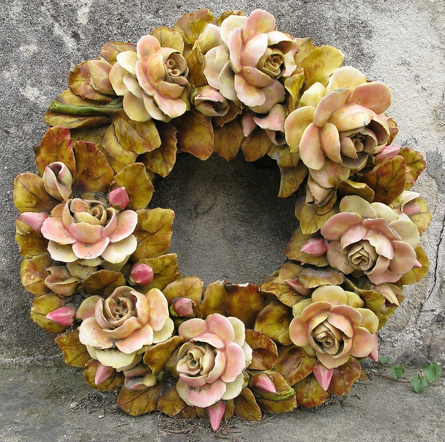 18 Best Mourning Ceramic Cemetery Flowers Images On