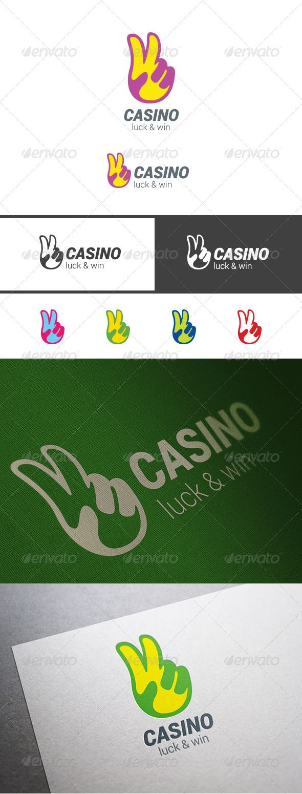 Casino Winner Hand Symbol Logo — Photoshop PSD #sweepstakes #competition • Available here → https://graphicriver.net/item/casino-winner-hand-symbol-logo/7992073?ref=pxcr