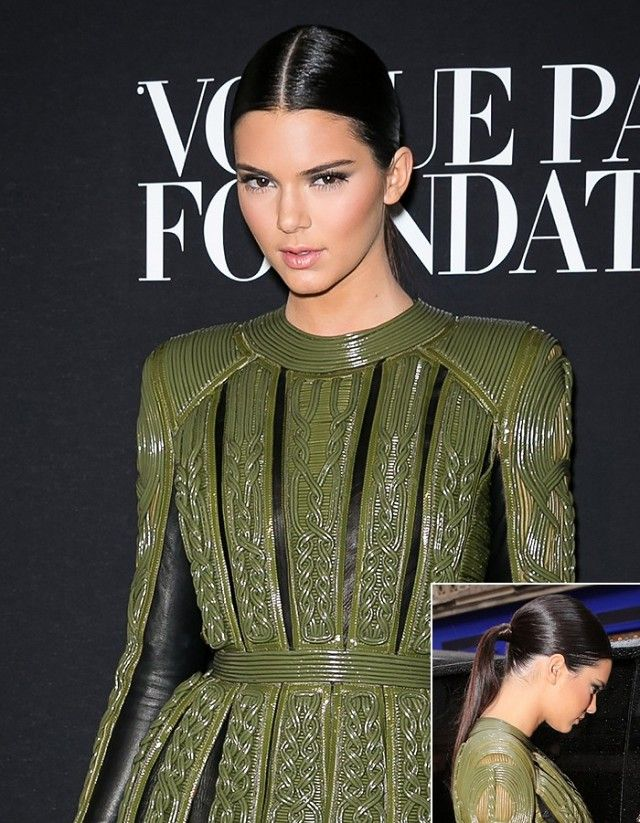 8 Ways to Style Center-Parted Hair, Courtesy of Kendall Jenner | Byrdie