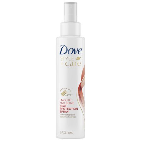 Dove Style Care Smooth Shine Heat Protect Spray 6 1 Oz Walmart Com In 2020 Smooth Shine Dove Shampoo And Conditioner Dove Beauty