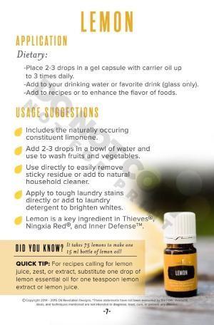 Young Living Essential Oils: Lemon by sheena