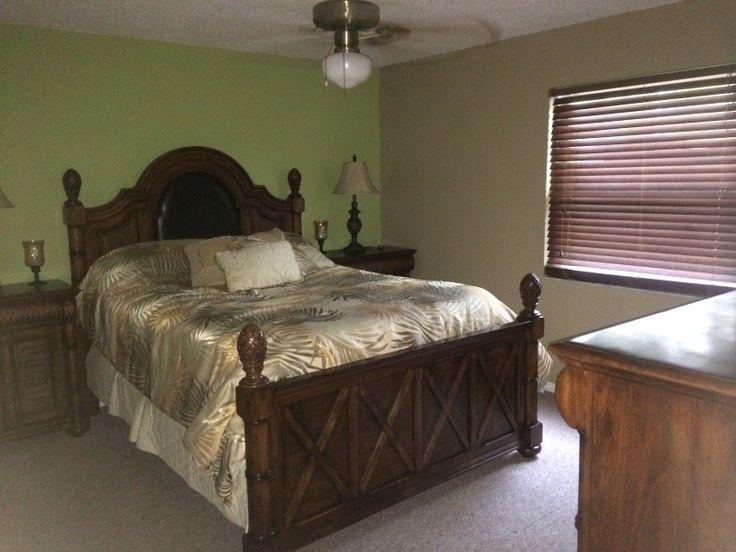 tropical ocean front hawaiian theme bedroom decor accent wall