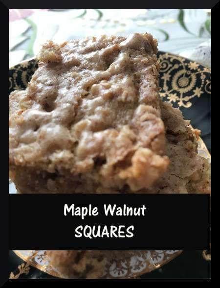 Maple Walnut Squares