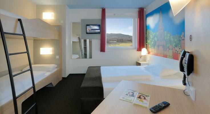 Familienzimmer für 4 Personen im B&B Hotel Freiburg-Süd