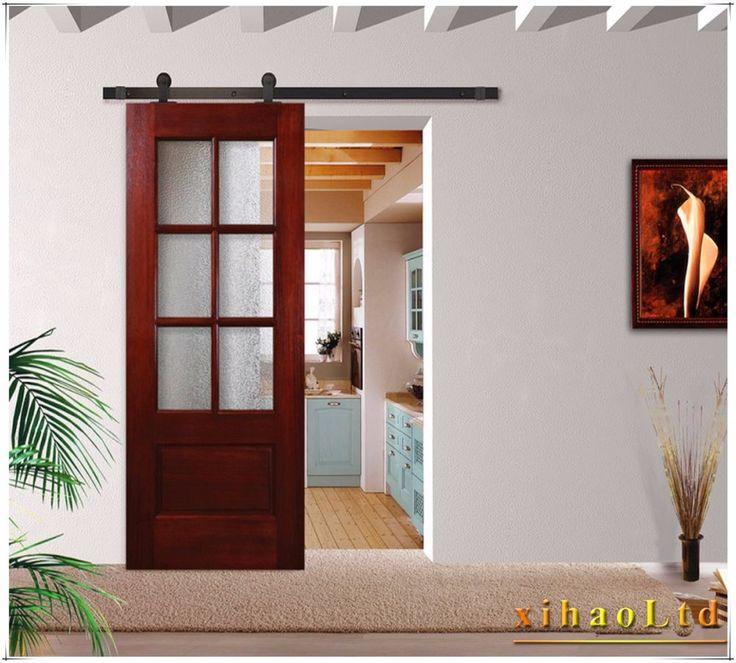 5/6/8/10FT Closing Sliding Barn Door Hardware Track For Single Door&Double Door #CCJH