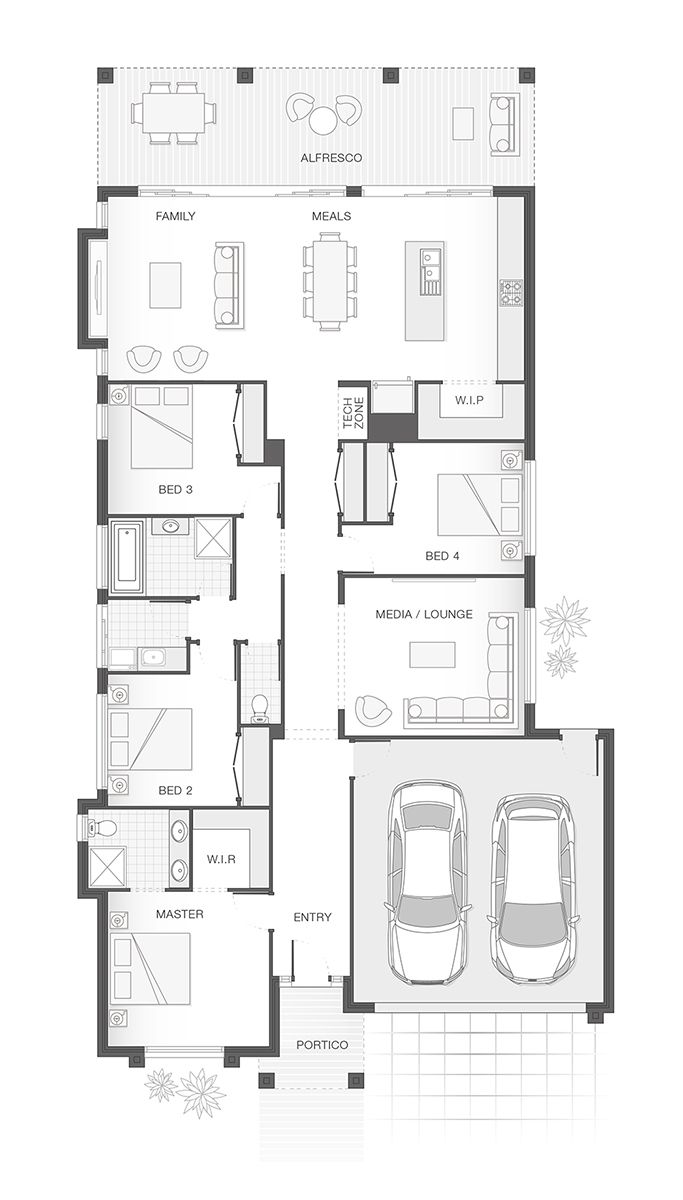 The ISLA | 235.9m2 | Single Storey Home Design | Option A Floor Plan |