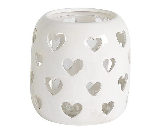 Lanterna portatealight in ceramica Heart - 22x22 cm