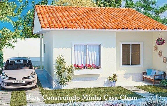 Fachadas de Casas Térreas Pequenas com Garagem!