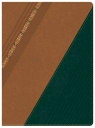 Biblia de Estudio Holman, castaño/verde