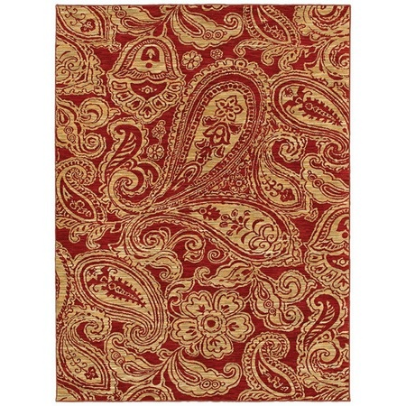 I pinned this Paisley Rug in Red from the Shaw Rugs event at Joss and Main!