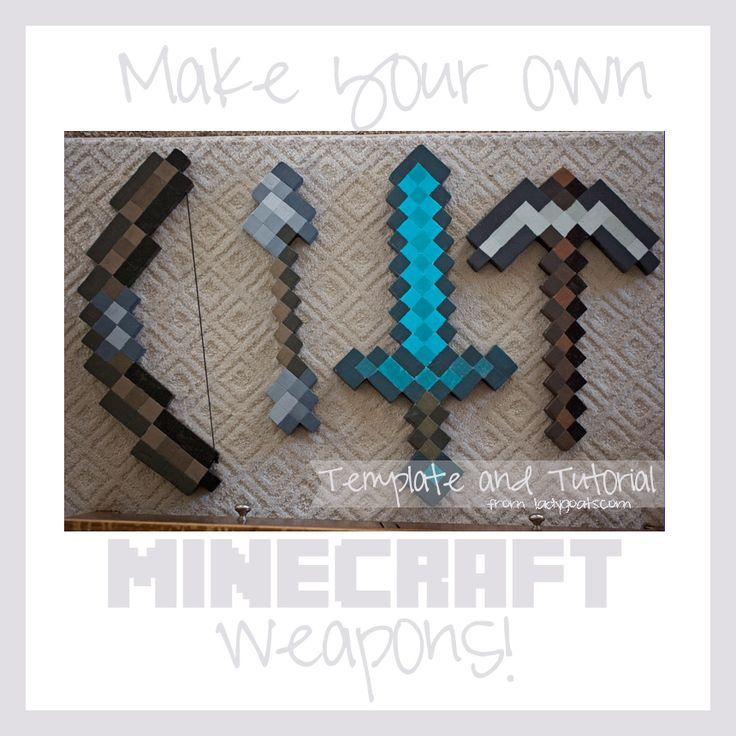 Lady Goats: Make Your Own Minecraft Weapons (Tutorial and Template)