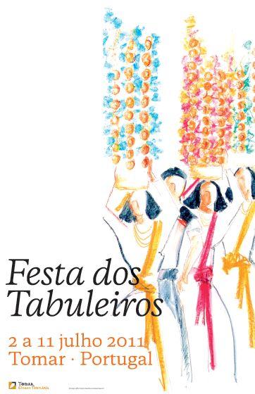 1º Cartaz Oficial 2011 da Festa dos Tabuleiros