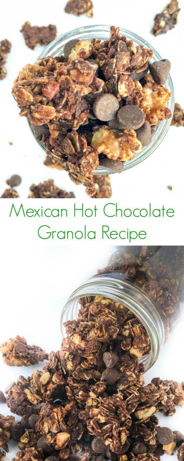 Mexican Hot Chocolate Granola Recipe - As easy, healthy and homemade granola! - The Lemon Bowl