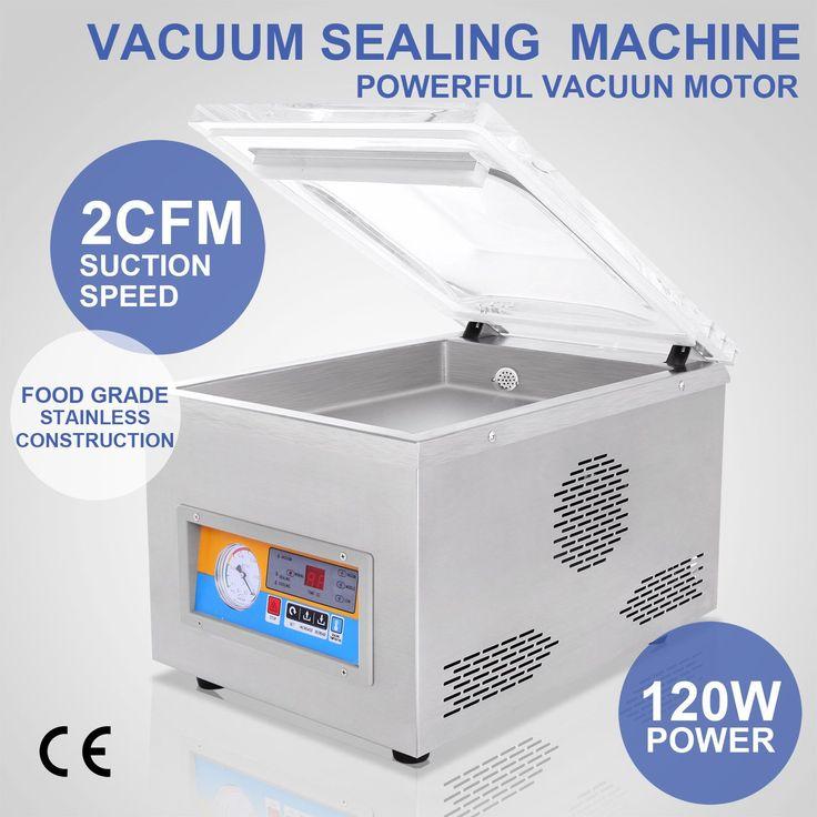 "370W 22"" Commercial Vacuum Sealer Food Sealing Machine Packaging Hydraulic Home"