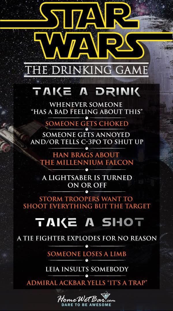 """Star Wars Drinking Game! """"Sorry About the HOT Mess"""""""