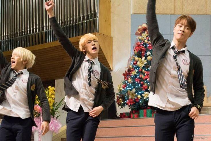 [29.12.15] Baekwoon Middle School - JinJin, SanHa e MoonBin
